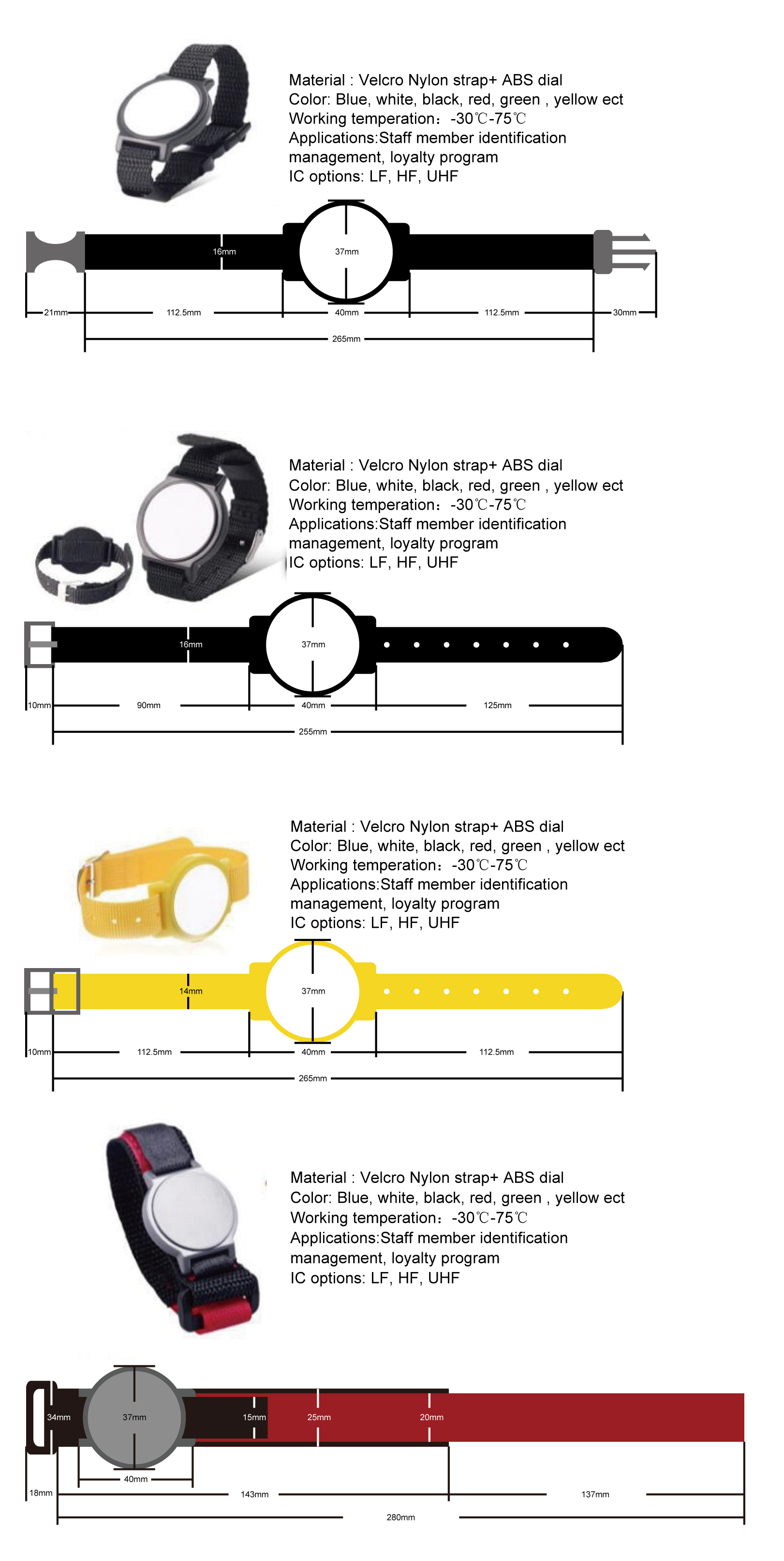 RFID wristbands cheap