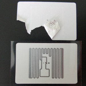 RFID tamper proof destructible label