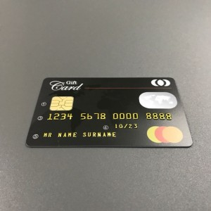 embossing smart cards